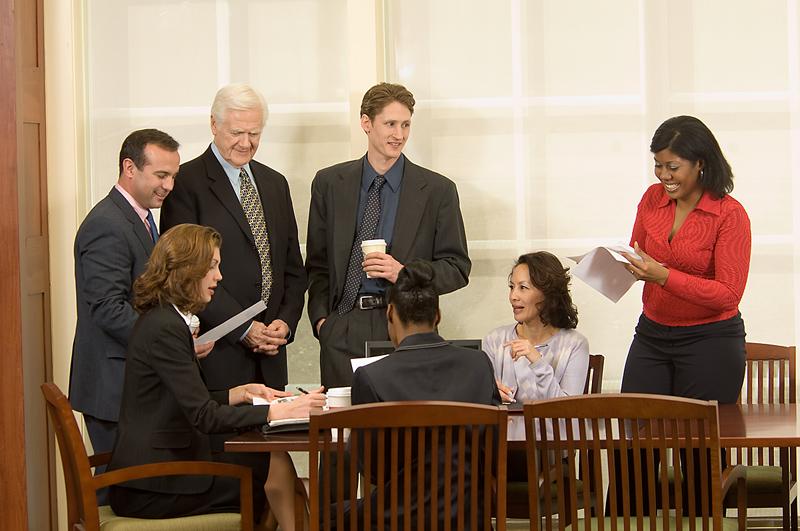 productive employee meeting