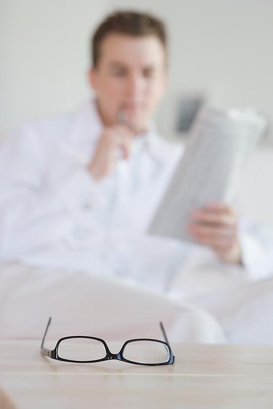 job seeker reading the Business Journal