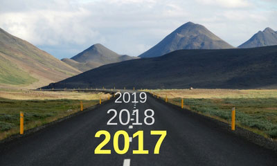 Road showing the years ahead
