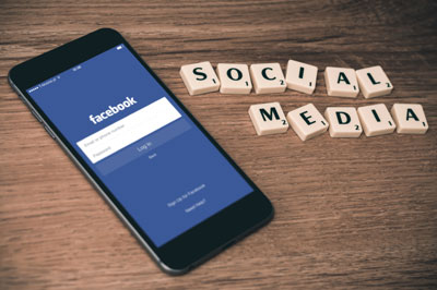 A smartphone showing social media