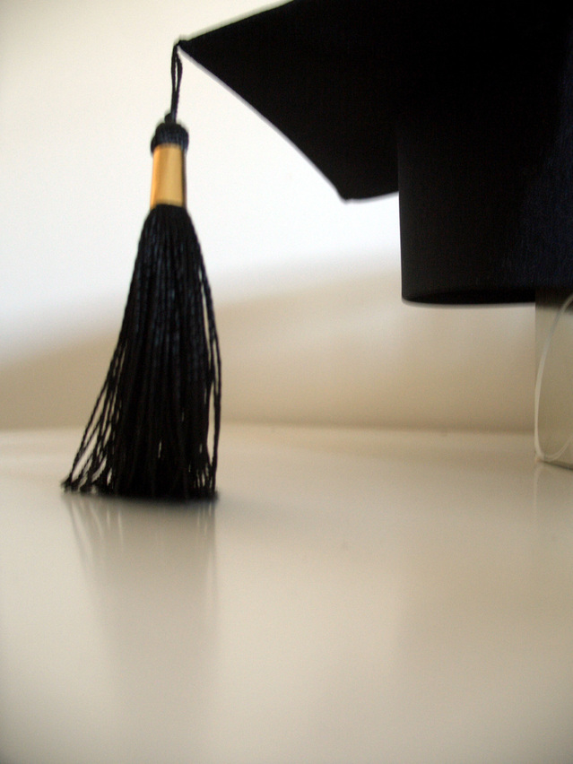 A graduate cap for someone about to job search