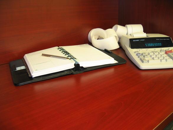 An accountant's desk