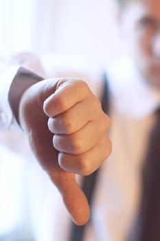 job seeker getting denied in an interview