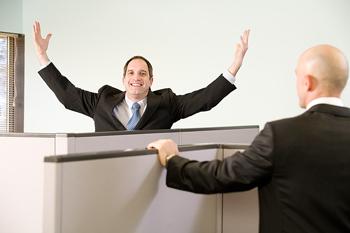 Employee showing boss appreciation