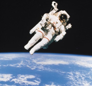 Bring the Right Stuff to a Face-to-Face Interview represented by an astronaut floating in space