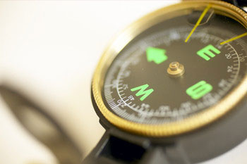 Career Transition - There Is No GPS – Make Your Own Roadmap with picture of a compass