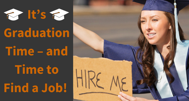 """College grad with a sign that says """"hire me"""""""