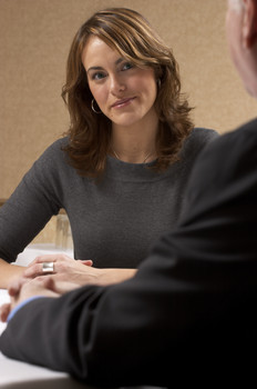 Candidate answering 'behavioral' questions in job interviews