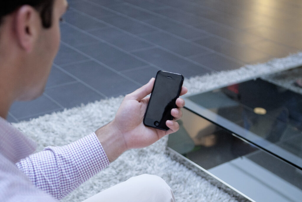 job searching using a mobile device