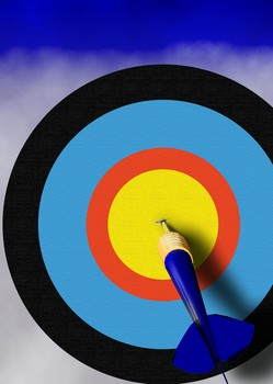 job seeking goals should be accurate being represented by an archery target