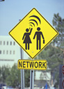 """Most Effective Networking for Your Job Search represented by a street sign with the word """"network"""""""