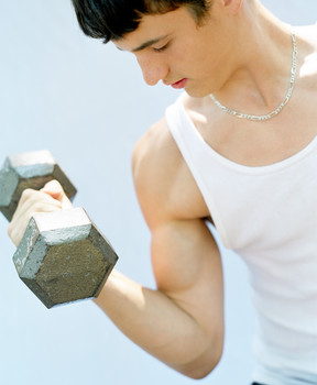 Prepare to SEARCH For a Job Before You APPLY For a Job represented by a person curling a dumbell