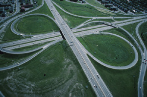 career change options represented by a highway