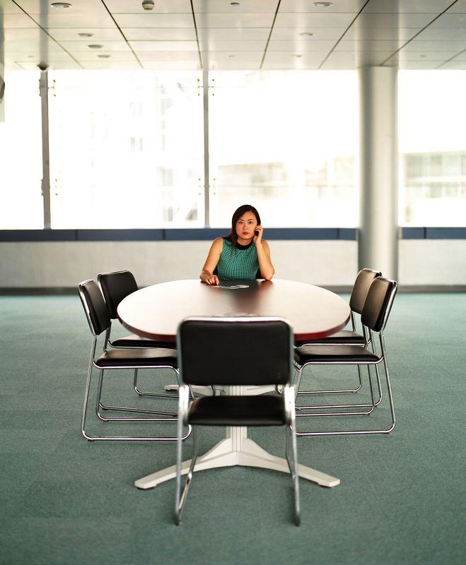 employee in a flexible workplace
