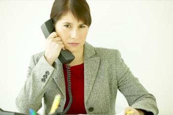 HR worker being busy