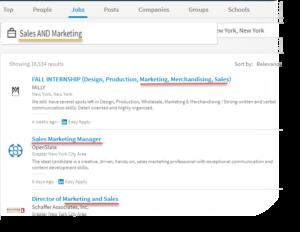 boolean-LinkedIn