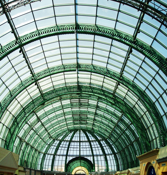 A glass ceiling
