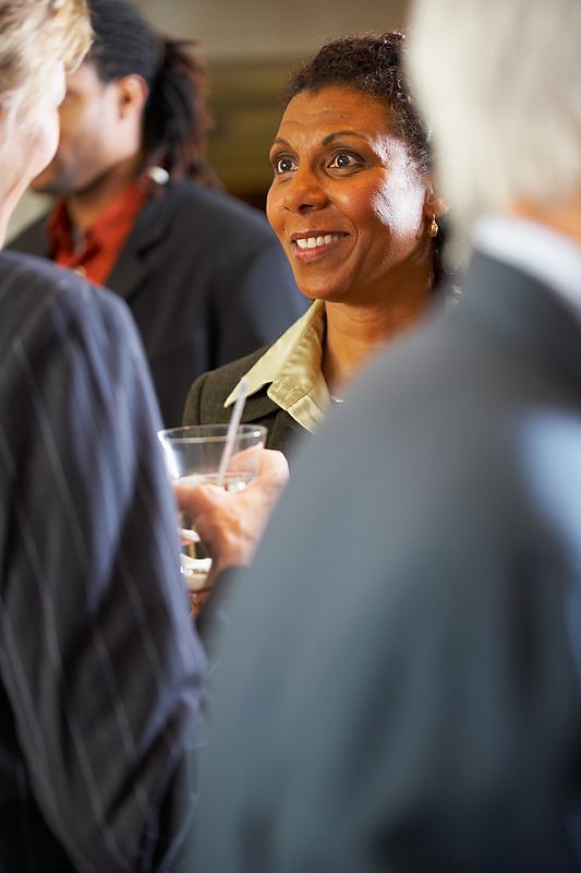 job seekers networking at events