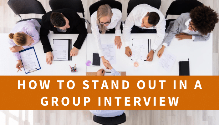 Photo of a group interview