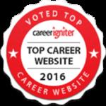 Voted top career website in 2016 by career igniter